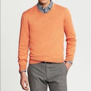 Banana Republic Luxury Blend V Neck Sweater Orange